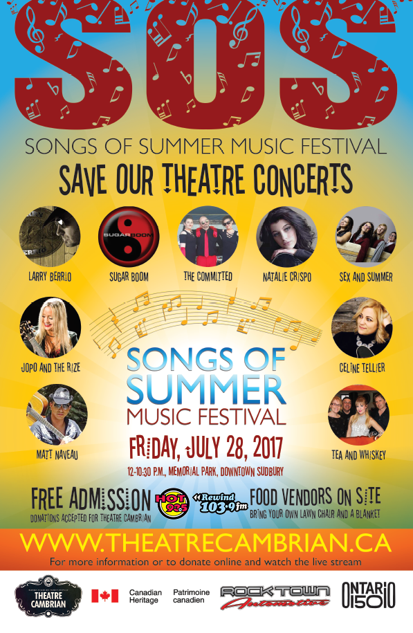 SOS: SAVE OUR THEATRE WITH SONGS OF SUMMER!